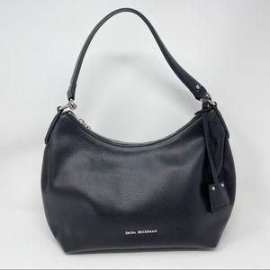 Dana Buchman Black Hobo Bag Silver Accents